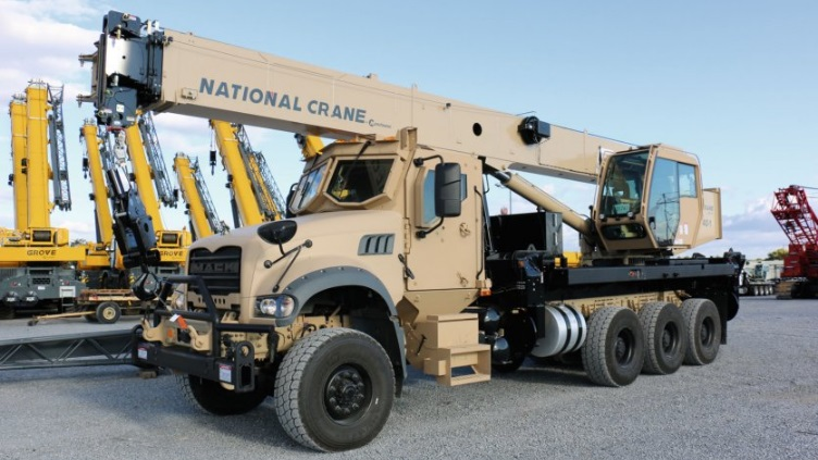 Manitowoc Group unveils the ATC-40T, a National Boom Truck Crane mounted on a Mack for Defence
