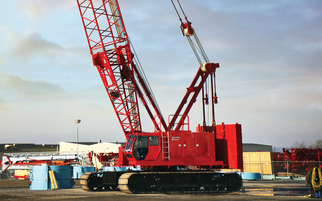 At ConExpo Manitowoc will unvail the new American-made MLC150-1 Crawler Crane