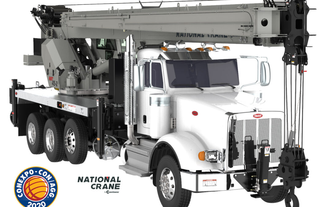 Manitowoc introduces the National NBT40-2 Series Boom Truck Crane made in the USA